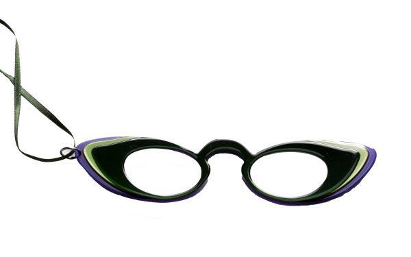 Brilketting Filao Face a Main Libellule paars/groen