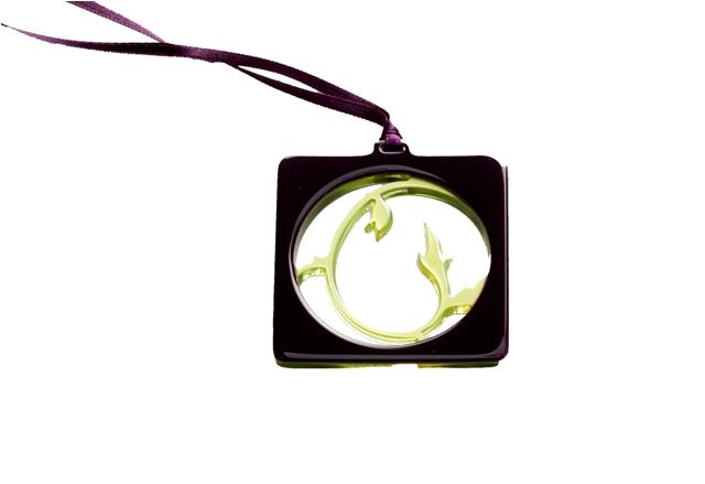Brilketting Filao Porte Lunette Rococo Carre 1 paars/groen