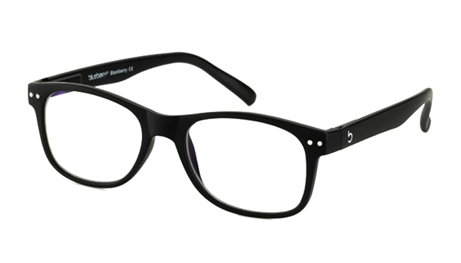 Computerbril Blueberry L zwart