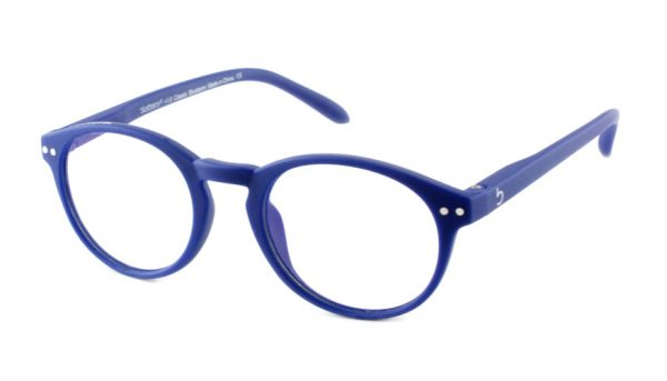 Computerbril Blueberry M blauw-