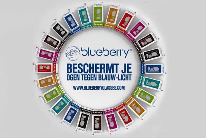 Computerbril Blueberry XL licht havanna