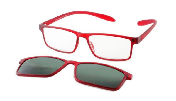 Lees en zonneleesbril in één Proximo PRIS003 C14 rood