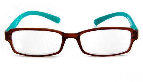 Leesbril INY Hangover G45600 bruin/turkoois