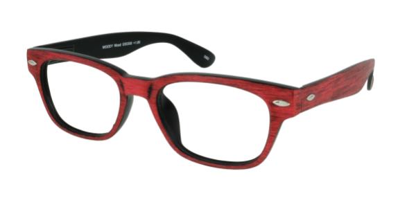 Leesbril INY Woody Wood G55300 rood