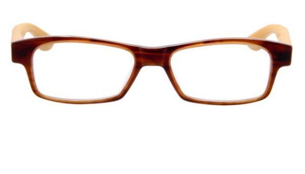 Leesbril Lucky Bamboo 887 45 bruin/roze