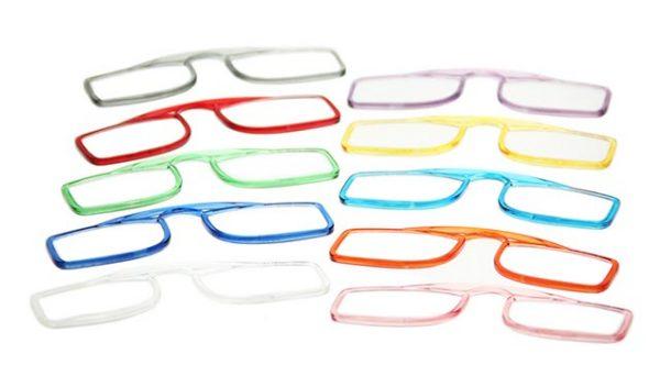Leesbril OOPS azuurblauw/transparant