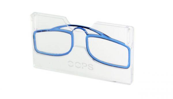 Leesbril OOPS blauw/transparant