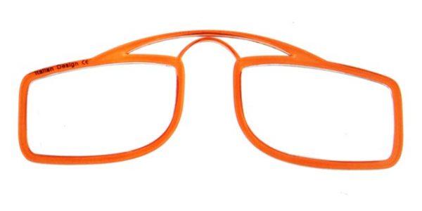 Leesbril OOPS oranje/transparant