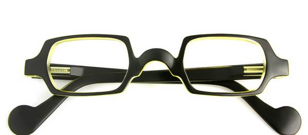 Leesbril Readloop Culture 2611-01 zwart/geel