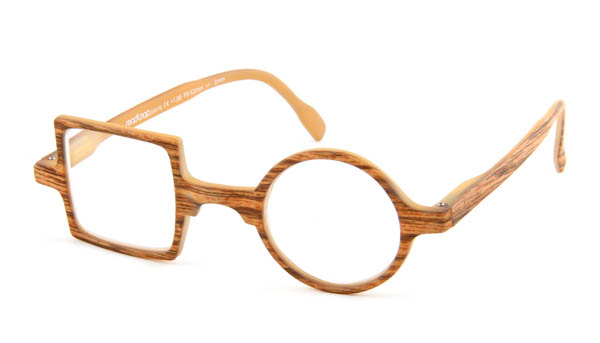 Leesbril Readloop Patchwork 2607-02 hout blond