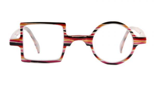 Leesbril Readloop Patchwork 2607-03 roze gestreept
