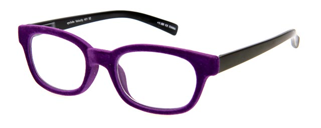 Leesbril Velocity 401 52 zwart/paars fluweel