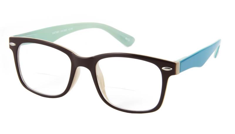Leesbril bifocaal INY Gatsby G51900 bruin/turkoois