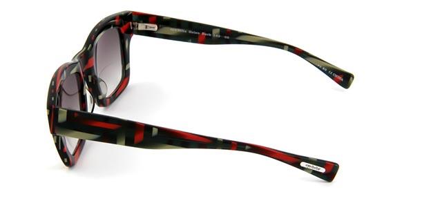 Leeszonnebril Helen Back Bifocaal 162 05 zwart/rood
