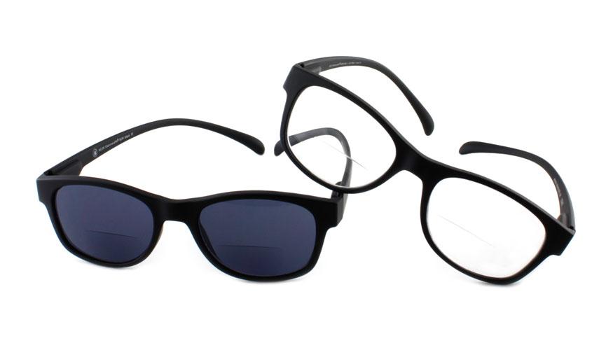 Set lees- en zonneleesbril bifocaal Klammeraffe zwart