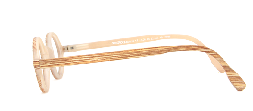 Leesbril Readloop Legende 2602-05 hout blond
