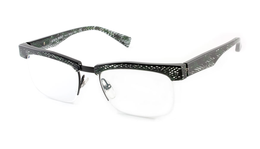 Leesbril Alain Mikli A3055 zwart/transparant/groen