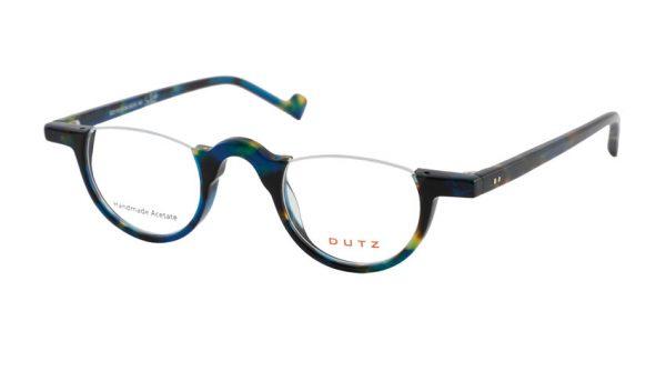 Leesbril Dutz lookover DZ2179 46 donkerbruin / geelgroen