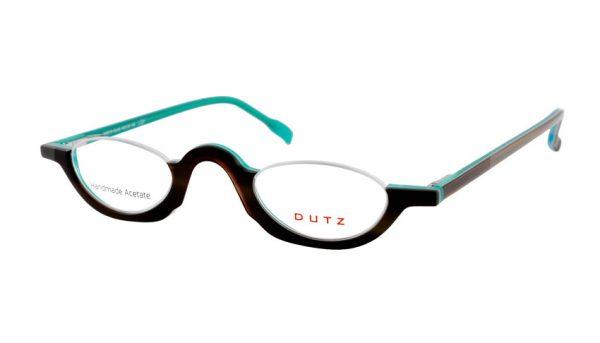 Leesbril Dutz lookover DZ2216 46 ovaal havanna / turkoois