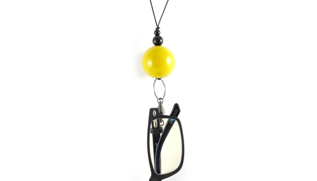Eyesonoff brilketting Choupa geel