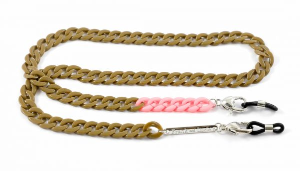 Frank and Lucie brilketting Rosa taupe/roze