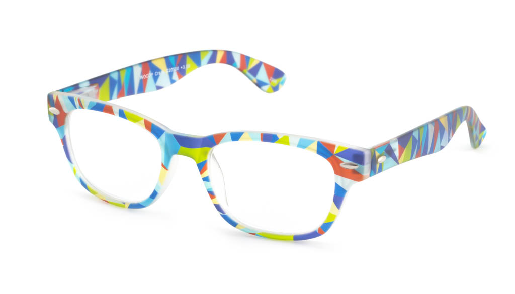 Leesbril INY Woody Crazy G20500 blauw/groen