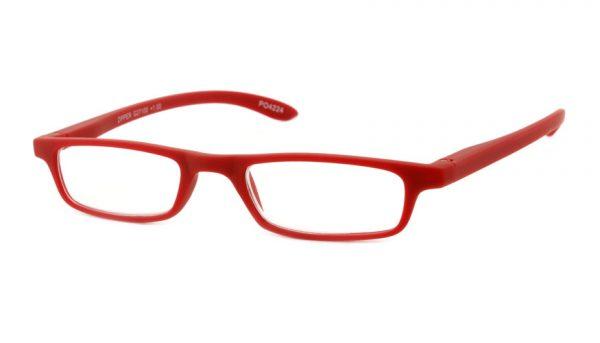Leesbril INY Zipper G27100 mat rood +1.50