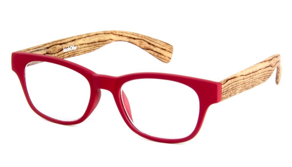 Leesbril Ofar LE0166C hout rood