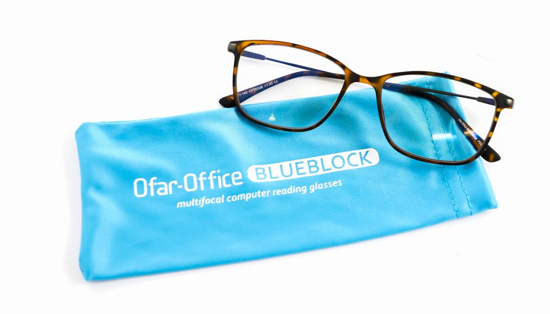 Leesbril Ofar Office LB0194/C rood met blauwlicht filter