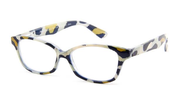 Leesbril Readloop Cauris 2604-05 blauw/wit/mosterd