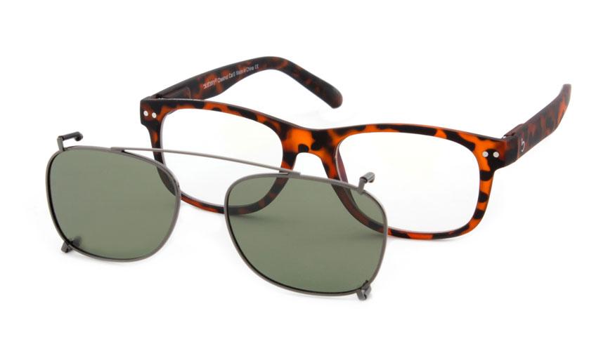 Zonneclip voor alleen Blueberry brillen maat L