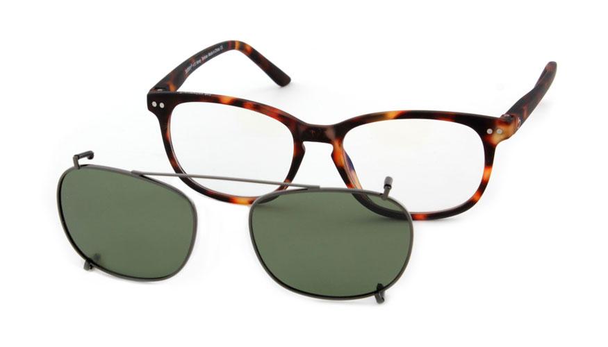 Zonneclip voor alleen Blueberry brillen maat XL