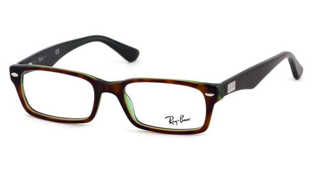 Leesbril Ray-Ban RX5206-2445-52 havanna/transparant groen