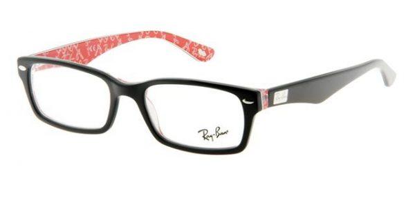 Leesbril Ray-Ban RX5206-2479-52 zwart/rood
