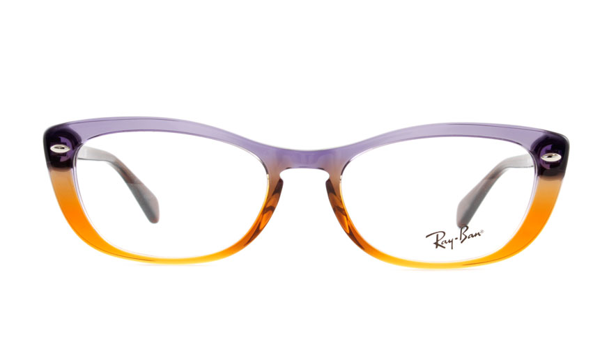 Leesbril Ray-Ban RX5366 5836 52 bruin lila/paars