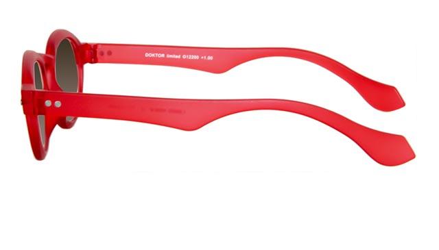 Leeszonnebril INY Doktor Sun G12200 rood/transparant