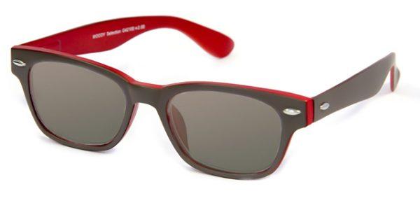 Leeszonnebril INY Woody Double G42100 grijs/rood