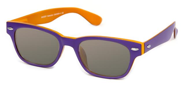 Leeszonnebril INY Woody Double G42400 paars/oranje