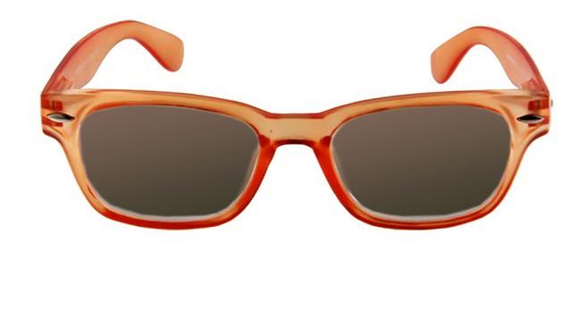 Leeszonnebril INY Woody Sun G14500 oranje/transparant