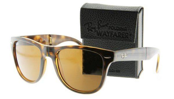 Opvouwbare leeszonnebril Ray-Ban Folding Wayfarer RB4105-710-54 havanna