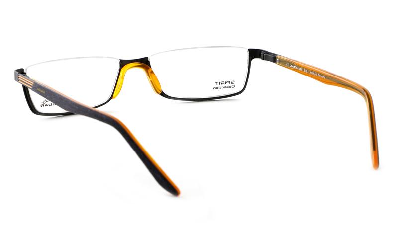 Leesbril look-over Jaguar 1114 zwart/oranje