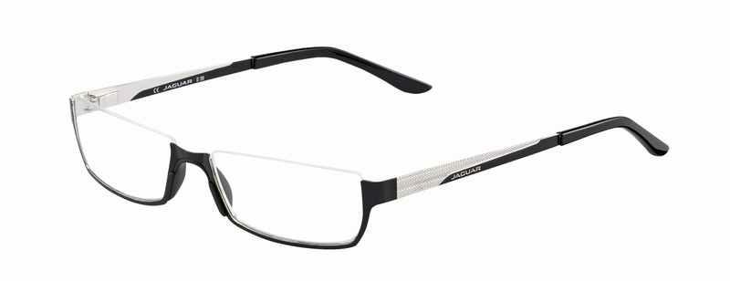 Leesbril look-over Jaguar 610 zwart/zilver