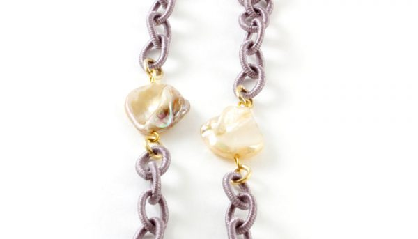 Frank and Lucie brilketting lila mauve
