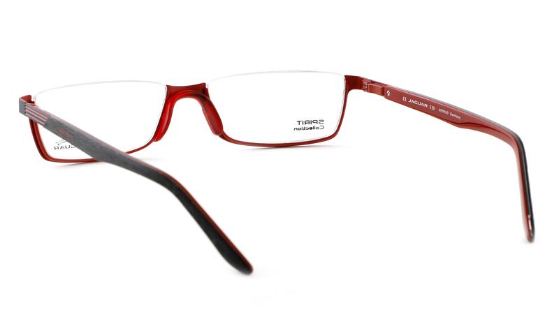 Leesbril look-over Jaguar 1068 zwart/rood