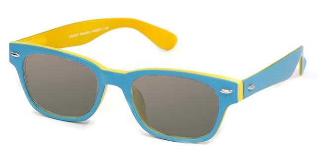 Leeszonnebril INY Woody Double G42200 blauw/geel