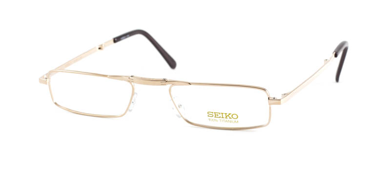 Opvouwbare leesbril Seiko t 0656 001 goud