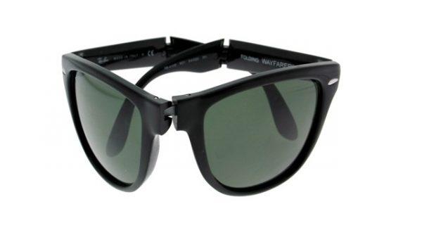 Opvouwbare leeszonnebril Ray-Ban Folding Wayfarer RB4105-601-54 zwart