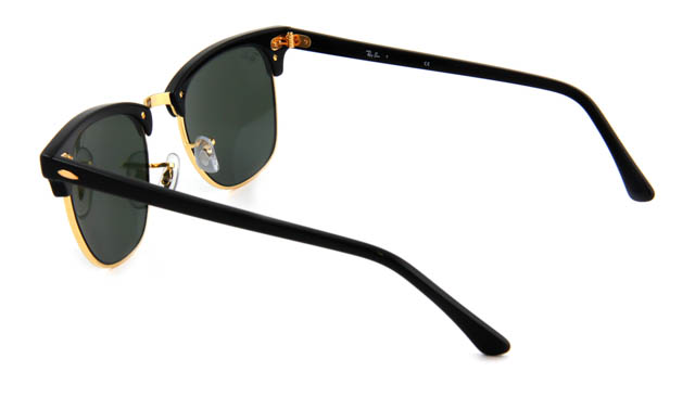 Zonneleesbril Ray-Ban Clubmaster RB3016-W0365-49 zwart/goud